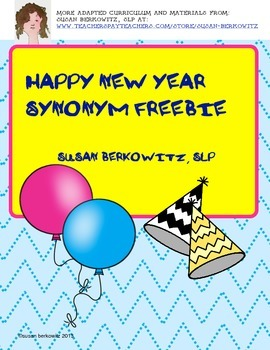 New Year FREEBIE Synonyms K-2