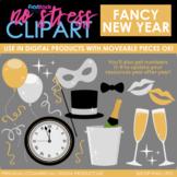 New Year Fancy Clip Art (Digital Use Ok!)