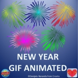 New Year Firework Party Holidays ClipArt Gif Animated