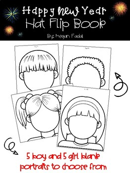 New Year Hat Flip Book