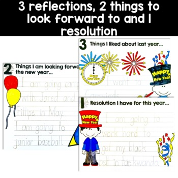New Years Resolution flip book