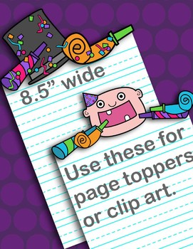 New Year Frames and Page Toppers Clipart