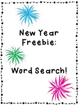 New Year Freebie: Word Search!