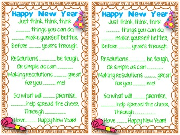 New Year Fun {Fill-In Sight Word Poem}