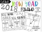 New Year Goal Foldable