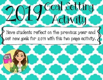 New Year Goal Setting Activity