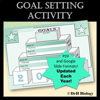 New Year 2018 Goal Setting Activity