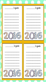 New Year Goal Setting Sheets