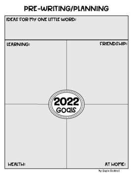 New Year Goal Setting and One Little Word Writing Activity