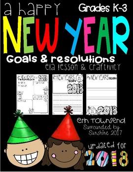 New Year Goals ELA Activity & Craftivity