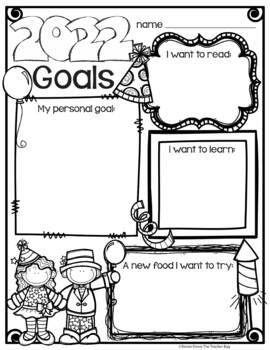 New Year's Goals Freebie by Renee Dooly | Teachers Pay ...