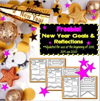 New Year Goals & Reflections Freebie