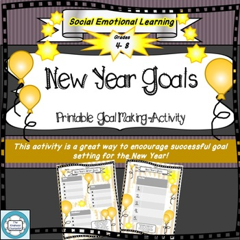 New Year Goals- SMART goals, SEL, Mental Wellness, Self Improvement, Holiday