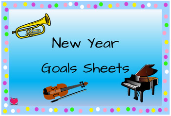 New Year Goals Sheets (instrumental lessons)