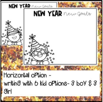 New Year's Goals- Writing Craftivity