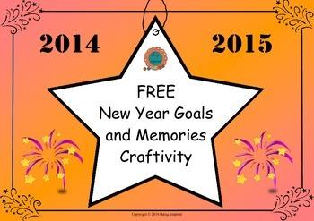 New Year Goals and Memories Craftivity (Freebie)
