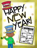 Happy New Year Graphic Organizer: Easy Printable