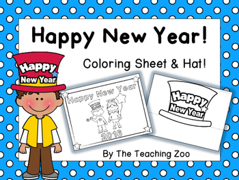 New Year Hat & Coloring Sheet