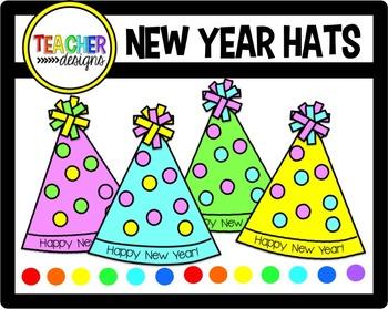 New Year Hats Clip Art