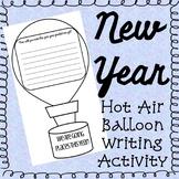 New Year Hot Air Balloon Writing