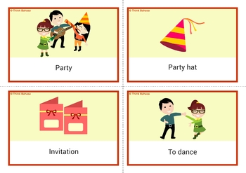 New Year Indonesian Vocabulary Flashcards | Tahun Baru Bahasa Indonesia