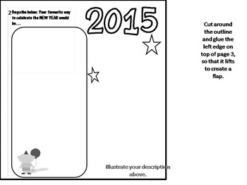 New Year Interactive Goal Setting Flip Book Activity
