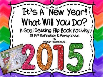 New Year Interactive Goal Setting Flip Book Activity