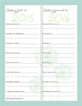 New Year Journaling Notebooking Pages with Writing Prompts