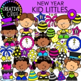 New Year Kid Littles {New Years Clipart}