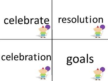 New Year Literacy Centers Word Work Activities