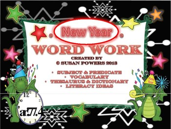 New Year Literacy Centers Word Work Activities
