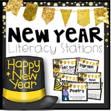 New Year Literacy Stations