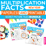 New Year MULTIPLICATION FACTS Paperless + Printable Secret