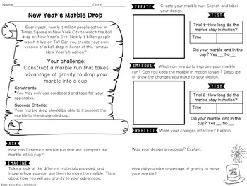 STEM for New Year's:Marble Drop