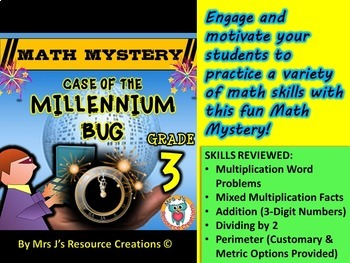 New Years 2018 Activity: 3rd Grade New Year's Math Mystery