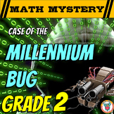 New Years Activity: 2nd Grade New Year Math Mystery - Distance Learning