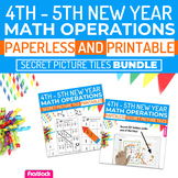 New Year Math | 4th-5th | Paperless + Printable Secret Pic