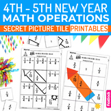 New Year Math 4th-5th Secret Picture Tile Printables