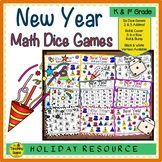 New Year Math Center Dice Games