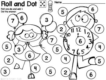 New Year Math Fun~ Ink Saving Math Centers!