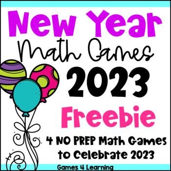 New Years 2019 Freebie: New Years Activities 2019: New Year Math Games