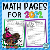 New Year Math Pages for 2021   Free Printable Math Worksheets