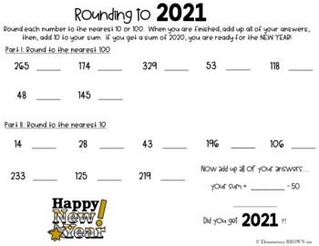 New Years Math Pack 2017 : Third Grade Common Core Aligned
