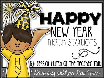 New Year Math Stations