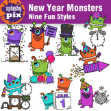New Year Monsters Clipart