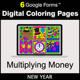 New Year: Multiplying Money - Google Forms | Digital Color