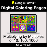 New Year: Multiplying by Multiples of 10, 100, 1000 - Digi