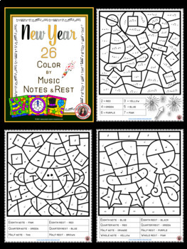 New Year Music: 26 New Year Music Coloring Pages
