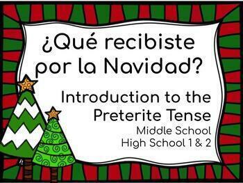New Year/Navidad Activity. Intro to PRETERITE verbs. Intro al preterito