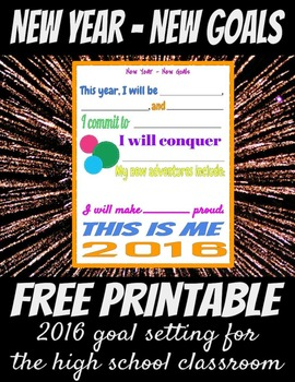 New Year, New Goals - A Goal-Setting, Resolution Activity